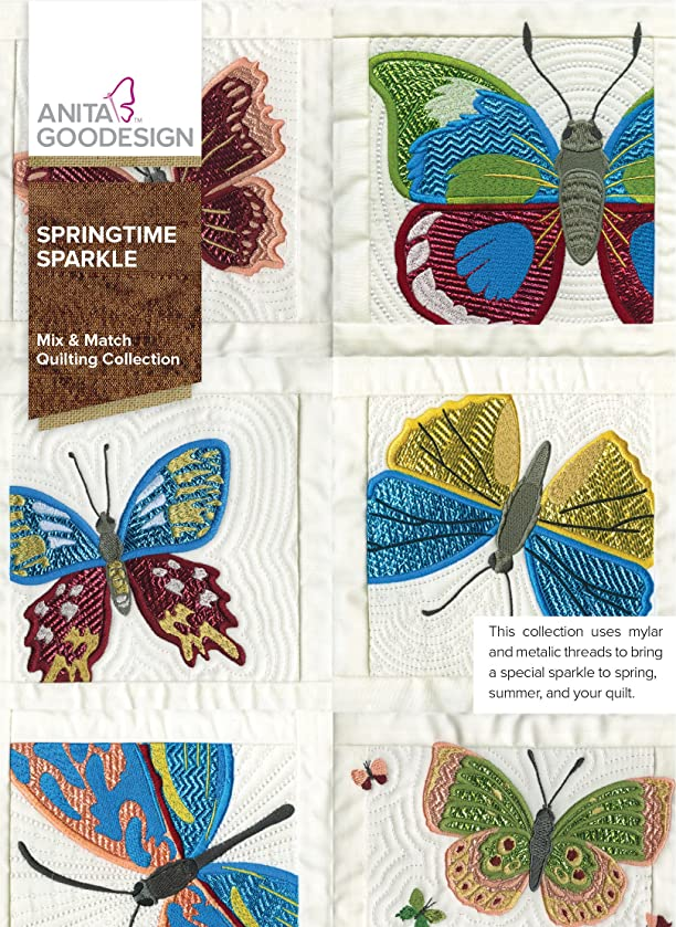 Anita Goodesign Embroidery Designs Springtime Sparkle