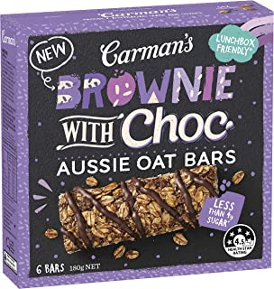 Carman's Bar Aussie Oats Choc Brownie, 180 g, Choc Brownie