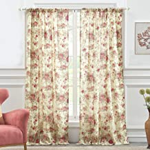 Greenland Home Antique Rose Curtain Panel Pair, 84 x 84 inches