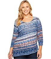 NIC+ZOE - Plus Size Oceanside Top