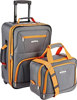 Fashion Softside Upright Luggage Set