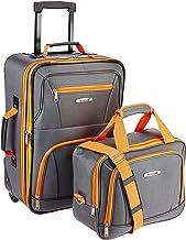 Rockland Fashion Softside Upright Luggage Set, Charcoal, 2-Piece (14/19)