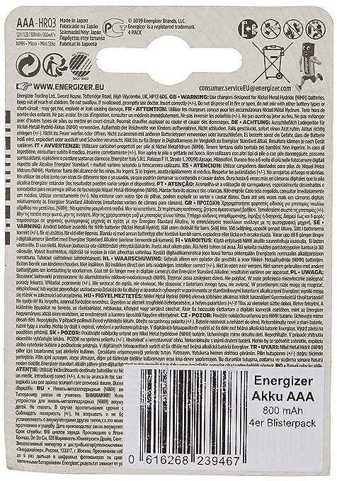 Energizer Accu Recharge 800mah Aaa Extreme 1 2v Elektronik