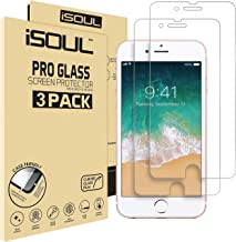 "ISOUL [3 Pack] Screen Protector for iPhone 6 6s 7 8 Screen Protector Tempered Glass Film 9H HD, 0.3mm Clear Premium Shatterproof Protection 4.7"" [Easy Installation] [3D Touch Compatible]"