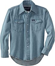 Wrangler Boys' Western Solid Snap Shirt