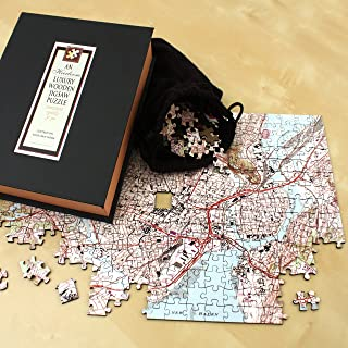 Personalized 'My Hometown' Wooden Jigsaw Puzzle (USGS Mapping)