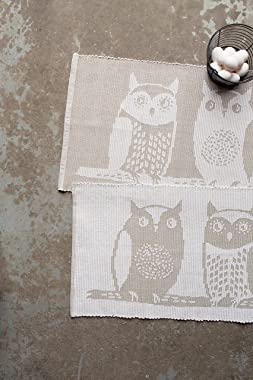 Now Designs 20x34 inch Jacquard Floor Mat, Hoos There