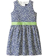 Toobydoo - Belted Navy and White Party Dress (Infant/Toddler/Little Kids/Big Kids)