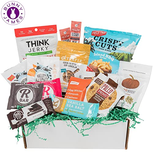 PALEO Diet Snacks Gift Basket: Mix of Whole Foods Protein Bars, Grain Free Granola