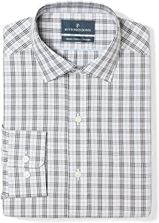 Amazon Brand - BUTTONED DOWN Men's Classic Fit Plaid Non-Iron Dress Shirt