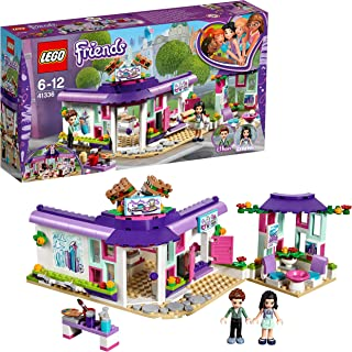 LEGO 41336 Friends Heartlake Emma's Art Café Playset, Emma and Pranksy Mini Dolls, Build and Play Fun Toys for Kids