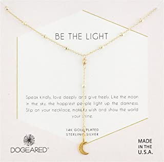 Dogeared Womens Be The Light, Sparkle Cresent Y-Necklace