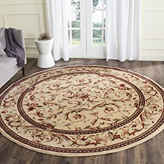 Safavieh Lyndhurst Collection LNH322A Traditional Scrolling Vines Ivory Round Area Rug (10' Diameter)