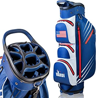 VARDI Lightweight Golf Cart Bag, 14 Way Organizer Full Length Divider Top, 8 Pockets and All Necessary Features for Perfect Golf Game