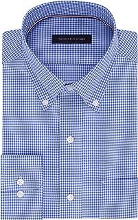 Men's Non Iron Regular Fit Gingham Buttondown Collar Dress Shirt