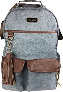Itzy Ritzy Diaper Bag Backpack – Large Capacity Boss Backpack Diaper Bag Featuring Bottle Pockets, Changing Pad, Stroller ...