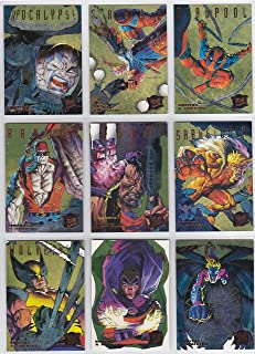 1995 Fleer Ultra X-Men Gold Hunters & STALKERS Insert Set of 9 Cards NM/M Marvel