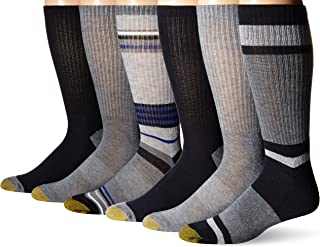 Gold Toe Men's Fashion Sport Crew Socks, 6 Pairs