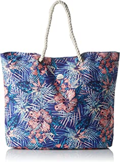 Roxy Printed Tropical Vibe Beach Bag in Royal Blue Beyond Love