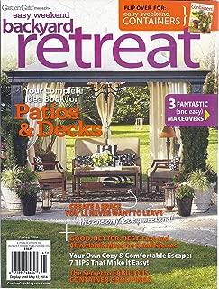 Garden Gate Magazine Easy Weekend Backyard Retreat/ Easy Weekend Containers (Spring 2014)