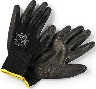 12 pares de guantes de trabajo ISC H&S, nylon,