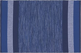"Now Designs by Danica Second Spin Placemat Indigo, W13.25 x L20.5"", Set of 4, 85% Recycled Cotton / 15% Recycled Polyester"