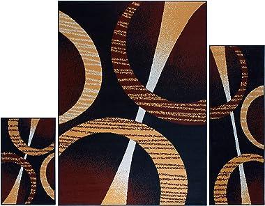 "Home Dynamix HD5194-502 Ariana Arcata Area Rug 3 Piece Set (4'11"" x6'11,1'8"" x4'11,1'8"" x2&#3"