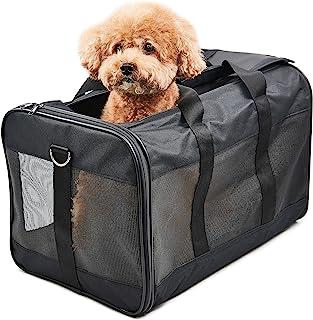 HITSLAM 人気のペットキャリーバッグ 猫・小型犬用 ショルダー 手提げ キャリー バッグ,3面メッシュ 通気性耐久性抜群, 軽量 携帯しやすい 車載/旅行/通院/アウトドア ペット用品 (L)