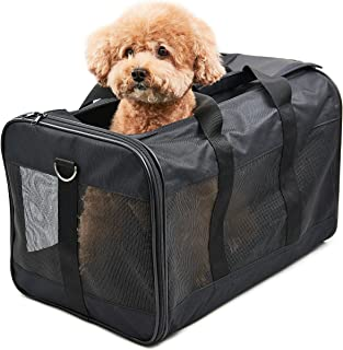 HITCH Pet Travel Carrier Soft Sided Portable Bag for Cats, Small Dogs, Kittens or Puppies, Collapsible, Durable, Airline Approved, Travel Friendly, Carry Your Pet with You Safely and Comfortably