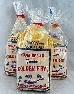 Arkansas Finest Nona Belles Genuine Golden Fry Fish Breading Lot of 3 Bags Regular Version