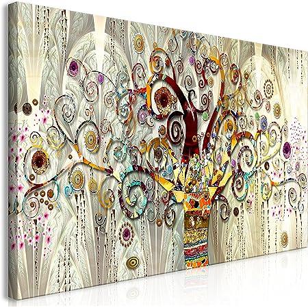 murando Impression sur Toile intissee Gustav Klimt 140x70 cm Tableau 1 Peice Tableaux Decoration Murale Photo Image Artistique Photographie Graphique Arbre Pierre Art l-A-0033-b-a