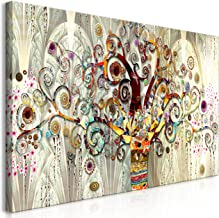 Quadri Moderni cm 100x50 stampa su tela 1 pz Quadro Moderno Arte Albero