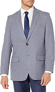 Haggar mensHJ700682btn Birdseye Wpane Coat Business Suit Pants Set
