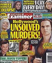 HOLLYWOOD'S UNSOLVED MURDERS! (Burt Reynolds, Brittany Murphy, Bob Crane and Carol Wayne/The Matinee Lady), Loretta Lynn, Martha Stewart - December 30, 2013 National Examiner Magazine