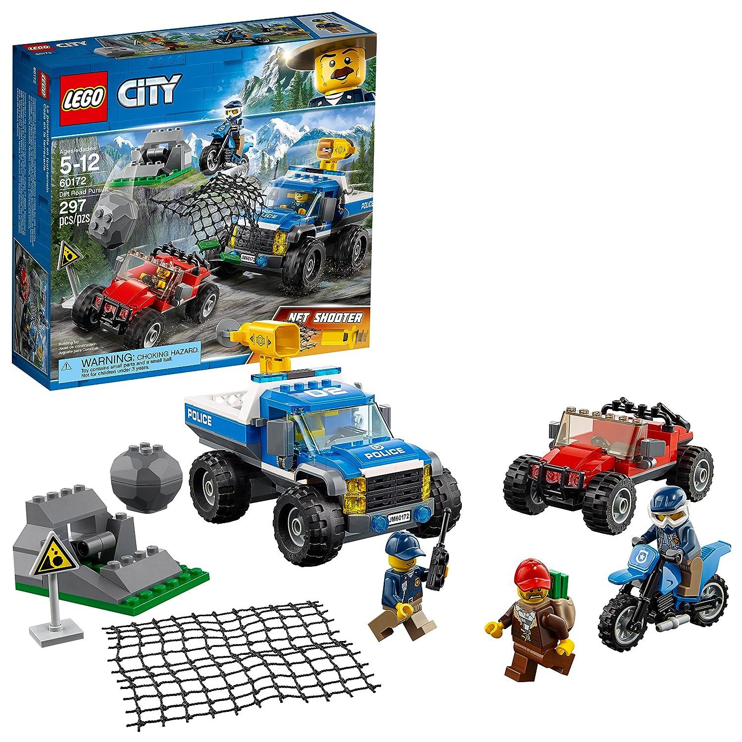 LEGO City Dirt Road Pursuit 60172 Building Kit (297 Piece)