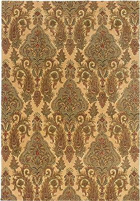 Sphinx Huntley Area Rug 19106 Beige Vines Leaves 3 6 X 5 6 Rectangle Furniture Decor