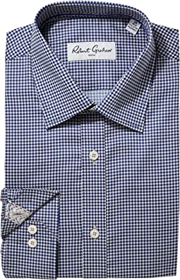 Robert Graham Diamond Two-Tone Dress Shirt