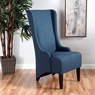 Christopher Knight Home 299945 Callie   Fabric Dining Chair, Dark Blue