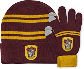 Harry Potter Kids Beanie and Gloves Set - Knitted Cap - Touchscreen Gloves