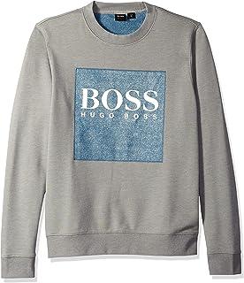 Hugo Boss 男式坡跟牛仔布厚绒布运动衫带标志