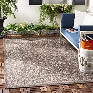 Safavieh Courtyard Collection CY8680-36321 Indoor/ Outdoor Area Rug, 8' x 10', Brown/Ivory