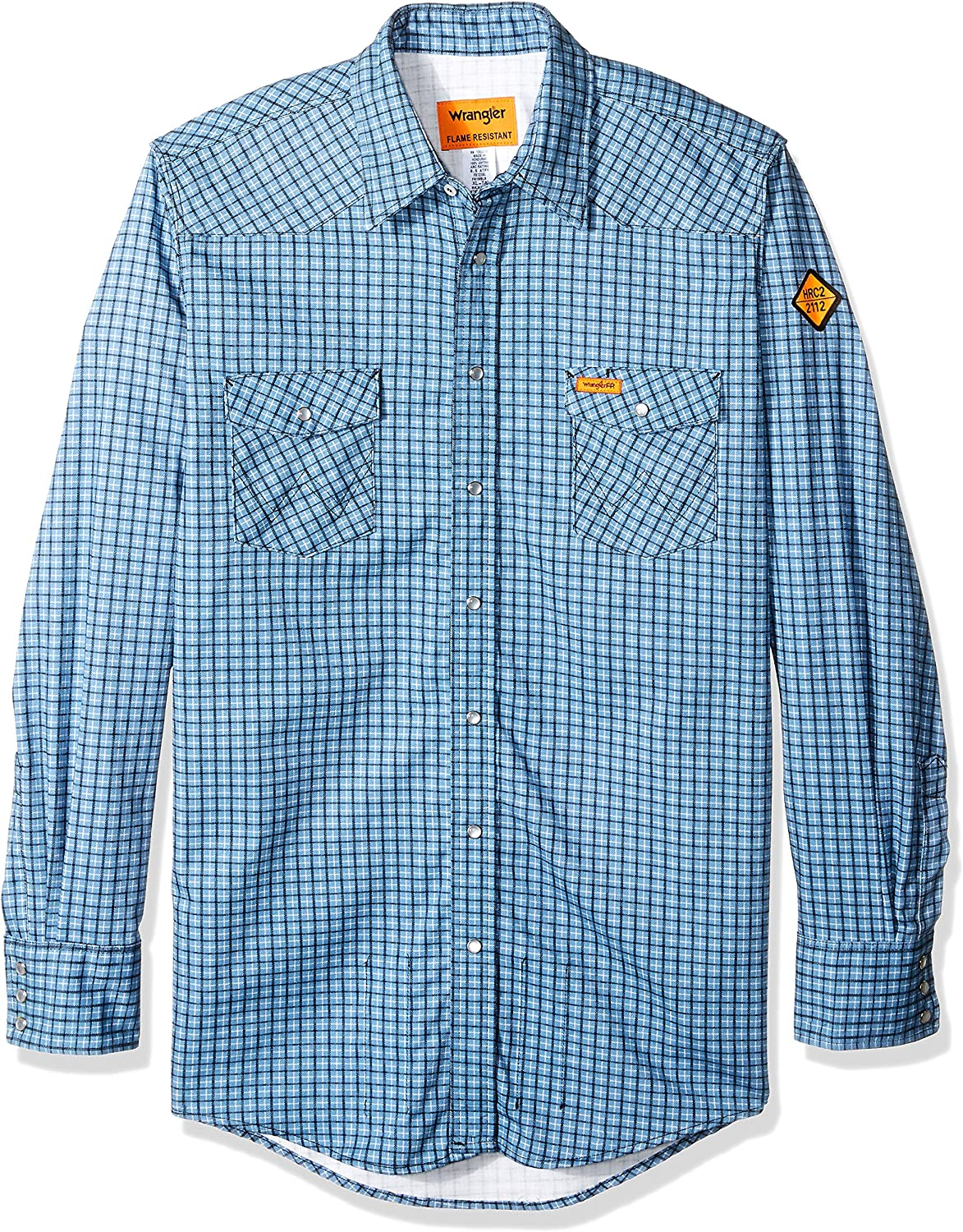 Wrangler Men's Big and Tall Flame Resistant Western Two Pocket Snap Shirt