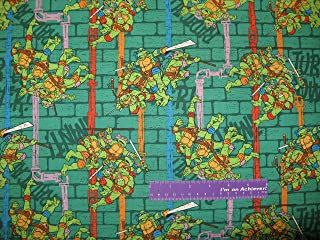 TMNT Teenage Mutant Ninja Turtles Sewer Pipe Cotton Fabric BY THE HALF YARD
