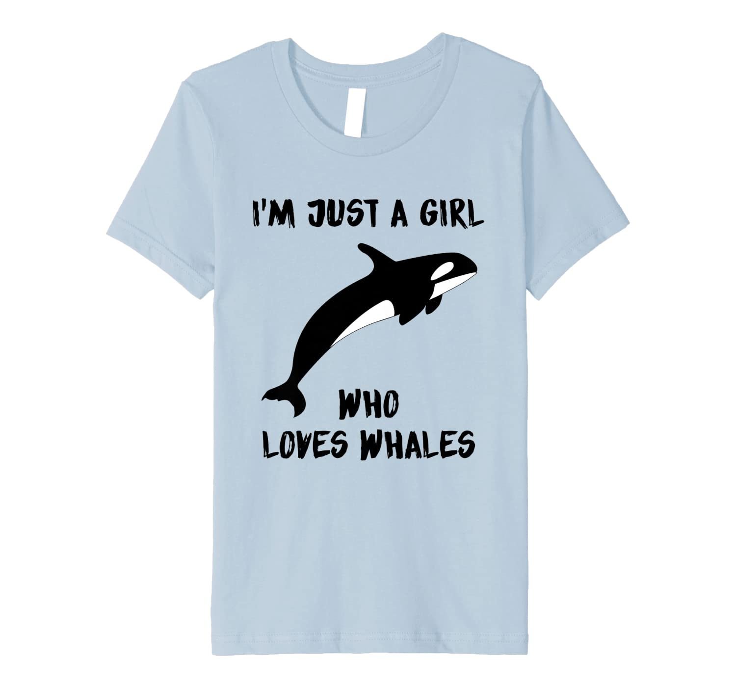 Orca Whale Lover I'm Just A Girl Who Loves Whales Premium T-Shirt