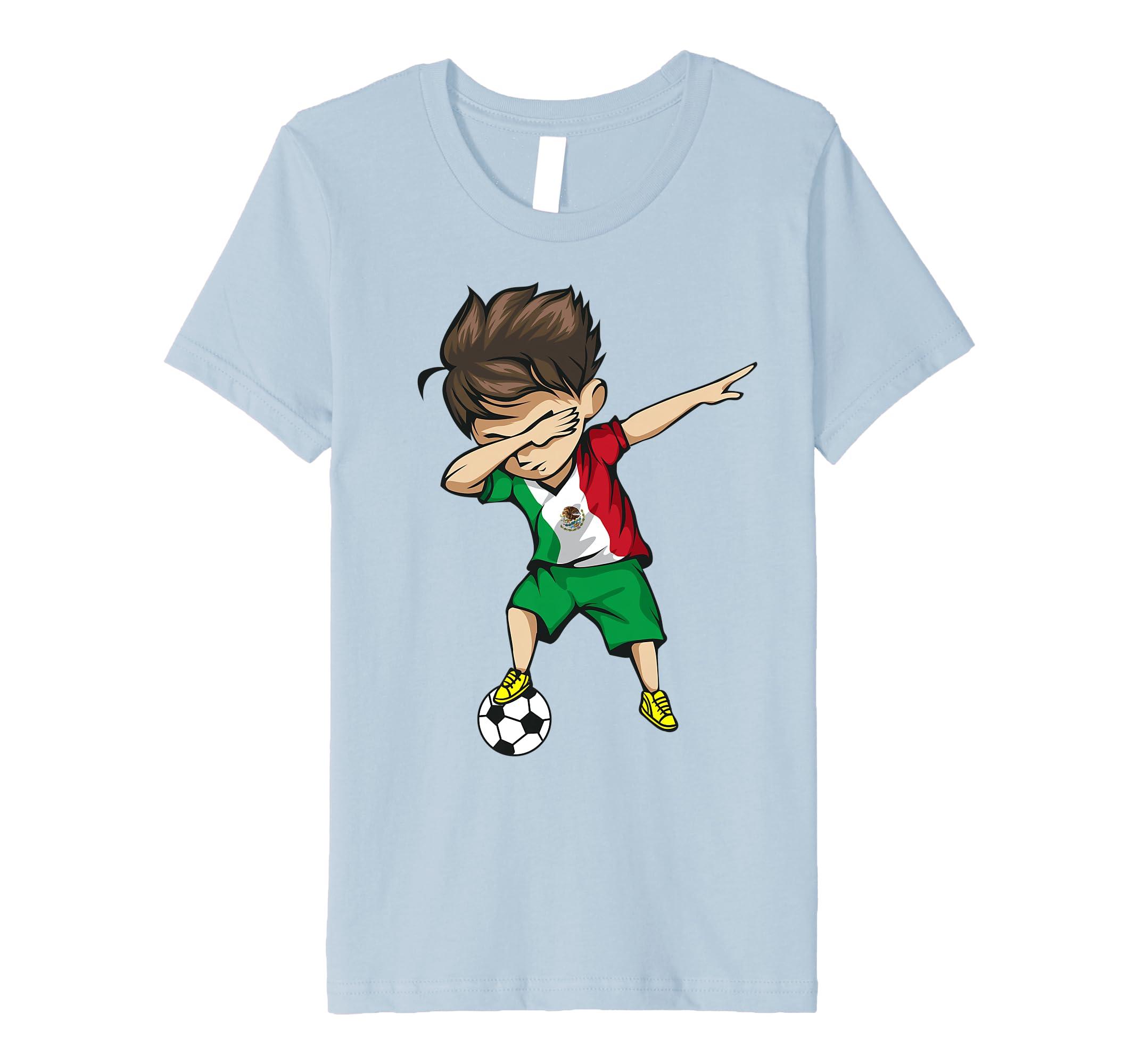 136cf5ab6 Amazon.com: Dabbing Soccer Boy Mexico Jersey Shirt - Mexican Football:  Clothing