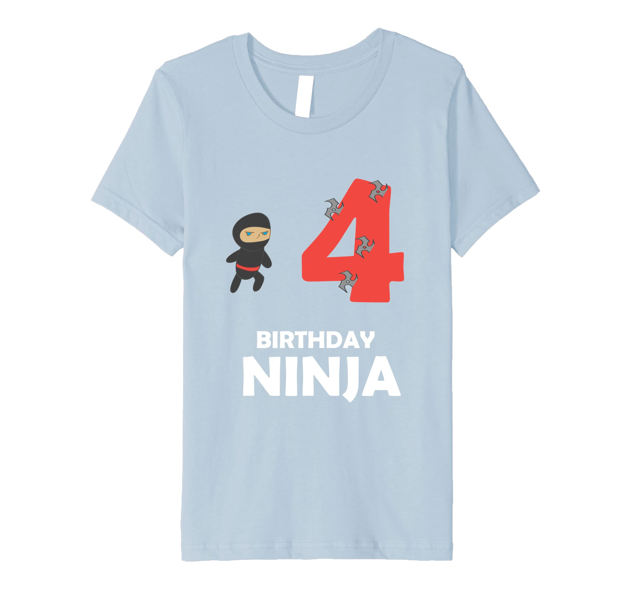 Amazon.com: Kids 4th Birthday Ninja 4 Four Year Old Funny T ...