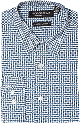 Nick Graham - Diamond Print Stretch Shirt