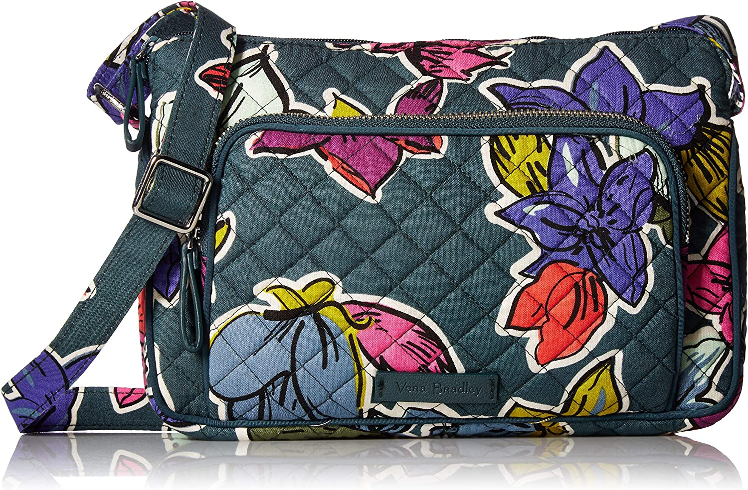 Vera Bradley Signature Cotton Little Our shop OFFers the best service Crossbody Brand new Hipster Purse wit