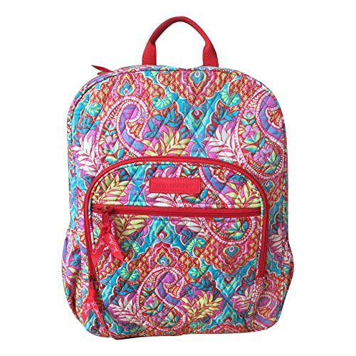 5dc665245d Vera Bradley Campus Backpack with Solid Color Interior (Updated Version) ( Paisley in Paradise