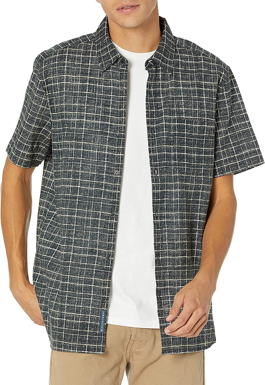 Perry Ellis Men's Check Print Slub Shirt